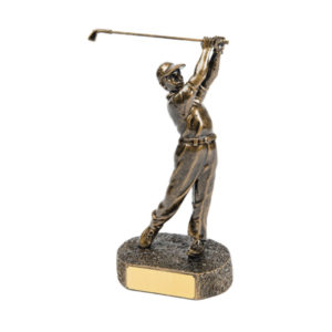 Golfer Swinging Award trophy
